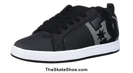 Dc Mens Court Graffik XE Skate Shoe For Beginners