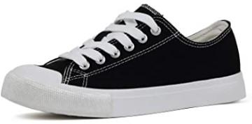 VenusCelia Pro Women's Perforated Skate Shoe (8 M US, Black)