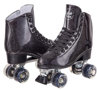 C Seven Sparkly Roller Skates Faux Leather Material – Best For Outdoor Skating